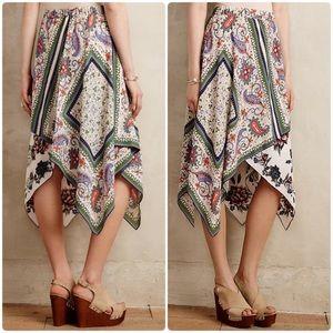 Anthropologie Maeve Far Sun Paisley Floral Skirt